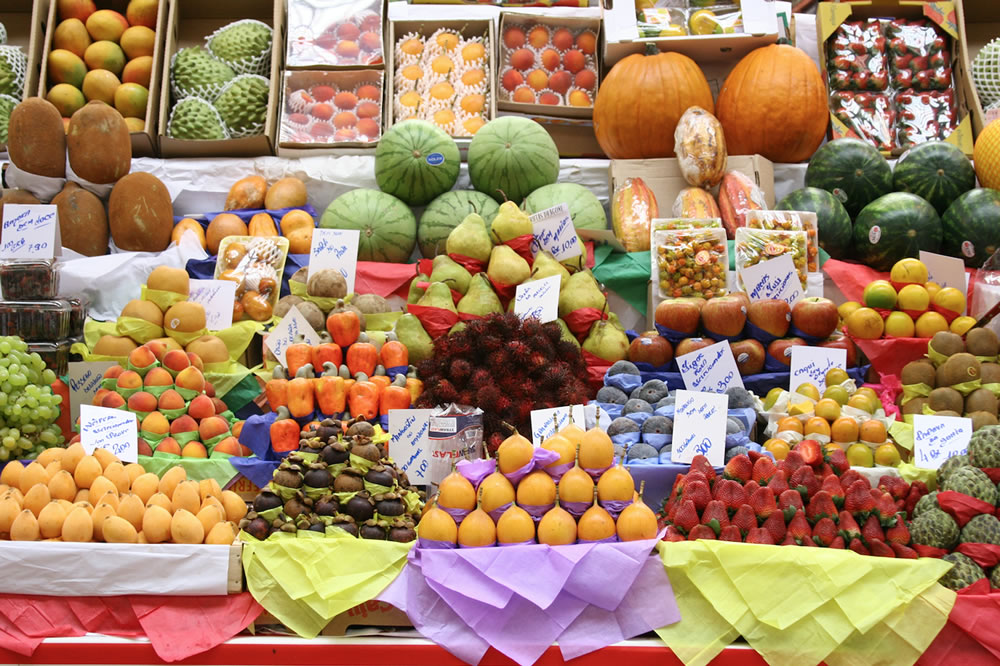 Banca de frutas do Mercadão